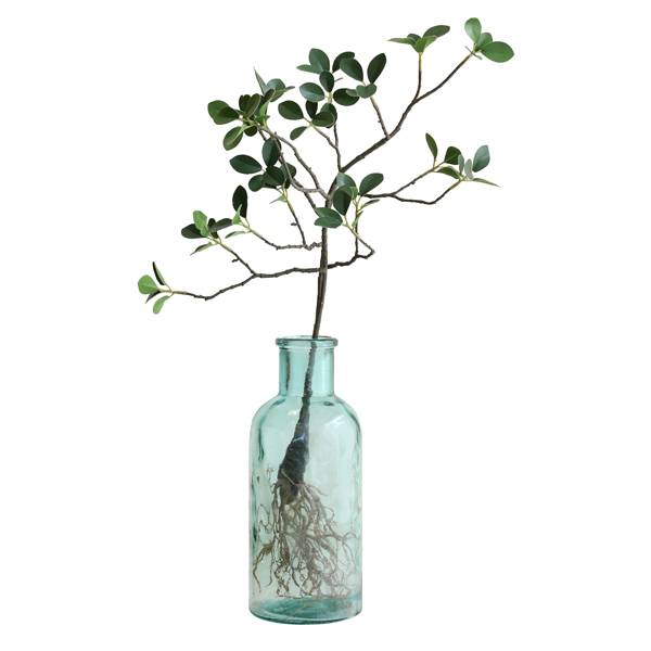 Hk Living HK Living glazen vaas - vintage bloemen flesvaas