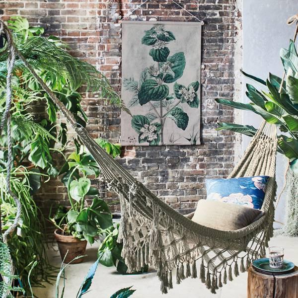 Hk Living HK living Botanisch muurdecoratie, schoolplaat canvas Botanisch - maat L
