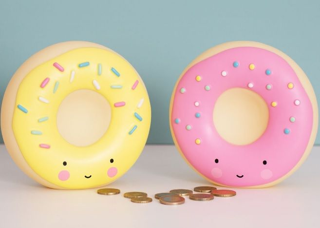 a Little Lovely Company A Little Lovely Company Spaarpot / Moneybox - Donut roze