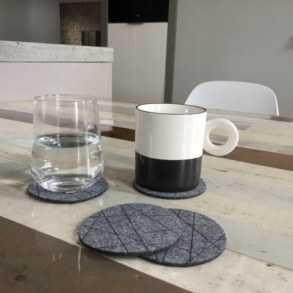 puur basic home selection mooie stoere grijze onderzetters van vilt
