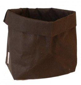 Puur Basic Home selection Paperbag Zwart