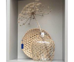 Hk Living Hanglampen : Hk living grote glazen vaas met vlechtwerk agl4415 puur basic