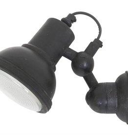 Industriële verlichting Wandlamp Memphis Antiek Mat Zwart