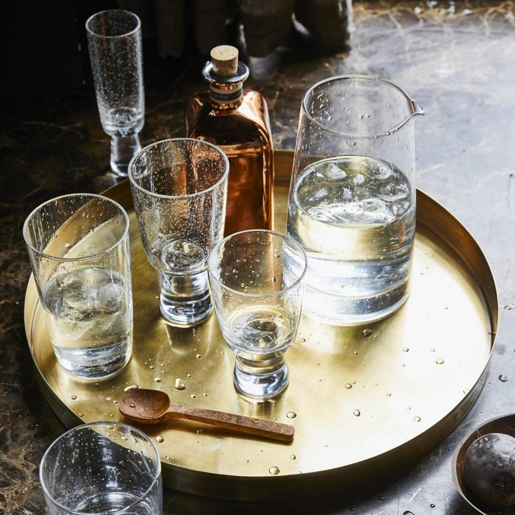 Hk Living Handgeblazen flute / champagne glas - HK Living 70's stijl