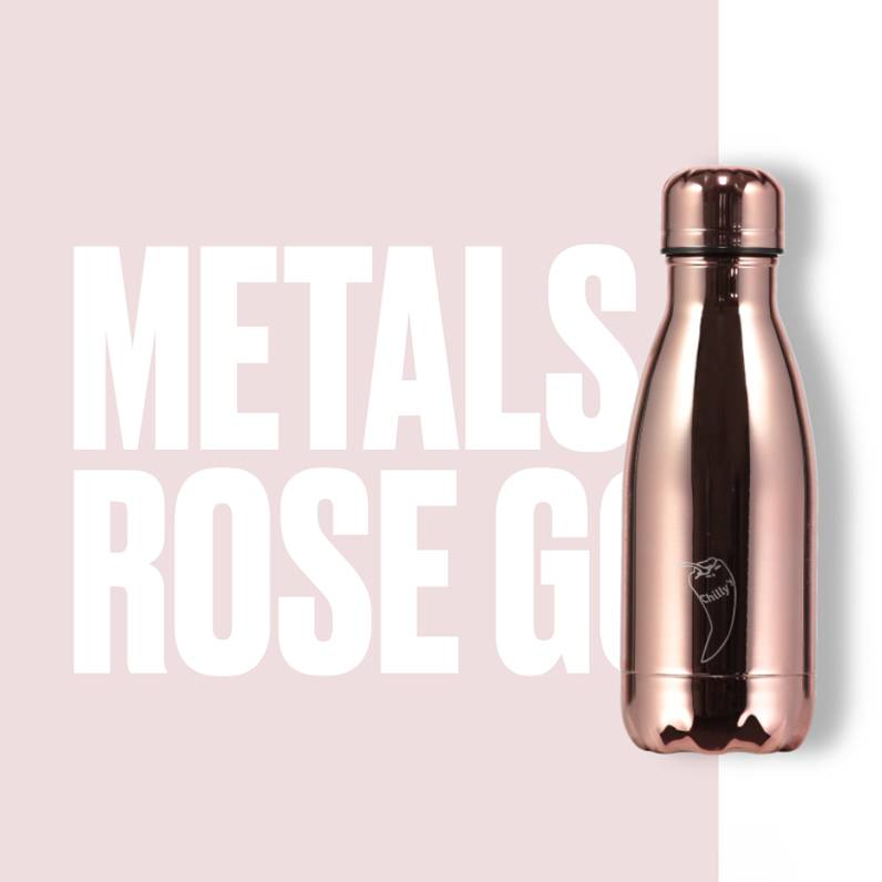 Chilly Bottle's Chilly Bottle - roze goud- thermosfles 260 ml