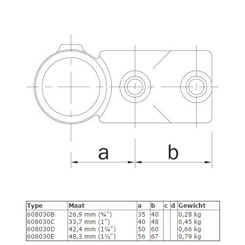 BUISKOPPELING 030 - Combi T-kruisstuk