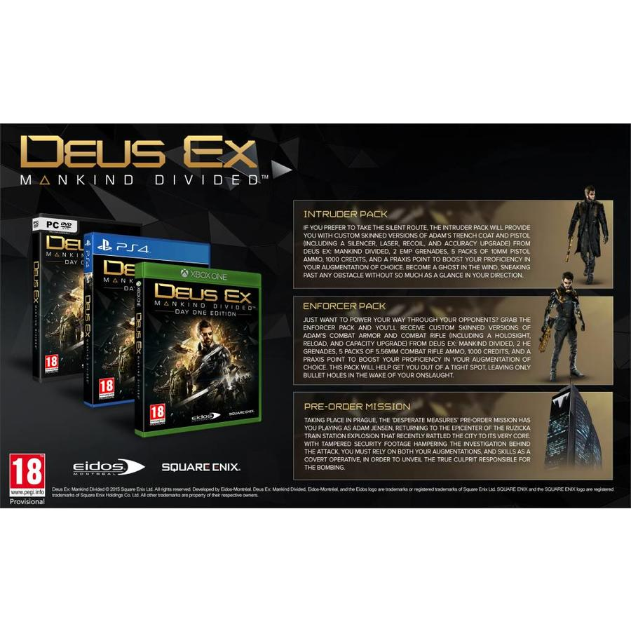 Deus Ex: Mankind Divided Day One Edition - Playstation 4