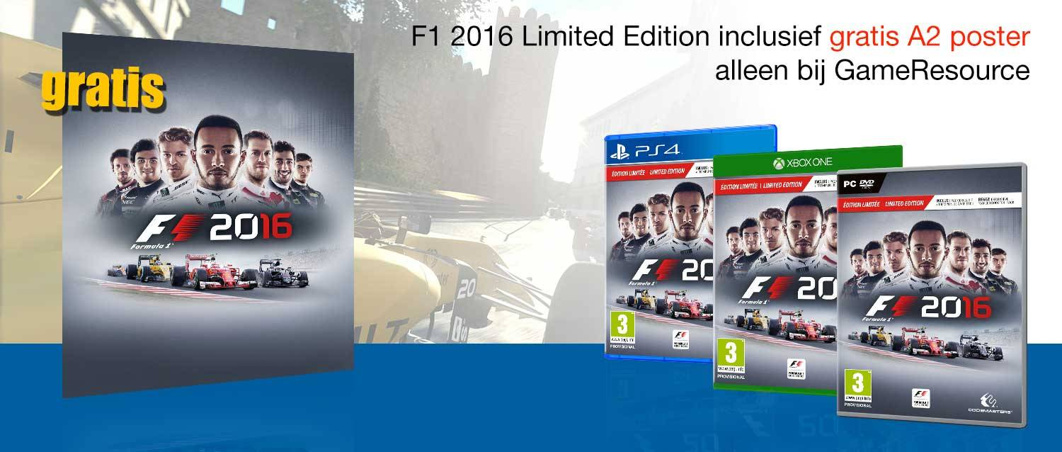 F1 2016 Limited Edition + A5 Poster