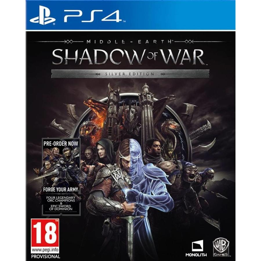 Middle-Earth: Shadow of war Silver Edition + DLC - PlayStation 4
