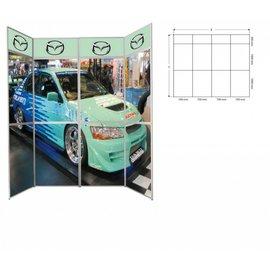 Panset presentatiewand4 x 3 paneel= 2800 x Hoogte 2300 mm