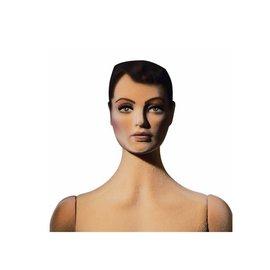 Poly star Lady met skulptuur haar en make-up