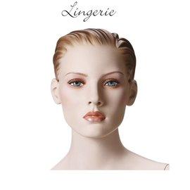 Mannequin Lingerie naturel met make-up