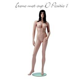 Mannequin Irene met cup D huidskleur positie 1