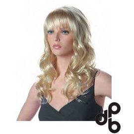 Chiara blond pruik voor etalagepop