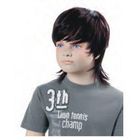Pruik voor kinderetalagepop FRED bruin