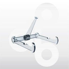 Bordenstandaard met 1 zwenkarm 80 mm