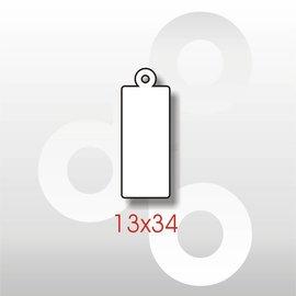 Hangetiket met koord 13*34 mm