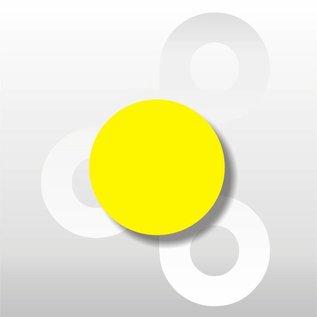 Fluorsticker Geel 35 mm