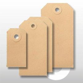Ecolabel bruin 70 x 140 mm. 1000 stuks