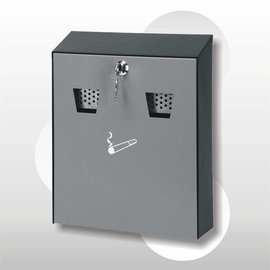 Wandasbak zwart/grijs