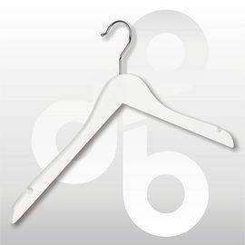 Blouse/shirt hanger wit gelakt 43 cm met rokinkeping
