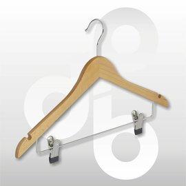 Blouse / shirt hanger vlak 43 cm antislip knijp