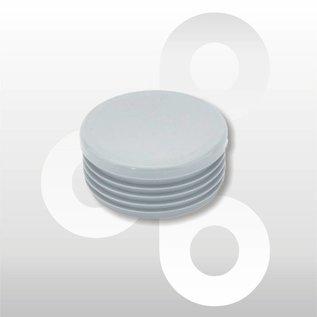Afwerkdop voor ronde buis grijs