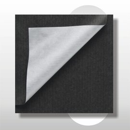 Dubbelzijdig kraft zwart met zilver 50 cm 200 mtr