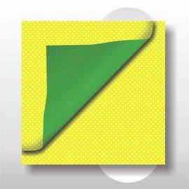 Dots dubbelzijdige papier gestipt 50 cm breed 100 mtr