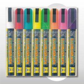 Krijtstiftenset kleur 2-6 mm uitwisbaar