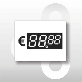 Digitale prijskaartjes tot € 100 39 mm hoog 100 stuks