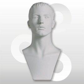 Sporthoofd Adam wit met skulpturen haar