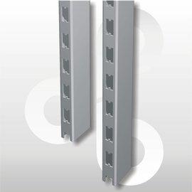Staander 60 * 30 mm H140 zilvergrijs
