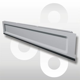 Plint H16 L100 zilvergrijs
