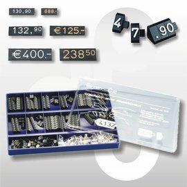 Prijsdoos Compact MIDI zwart/wit cijferhoogte 6,3 mm