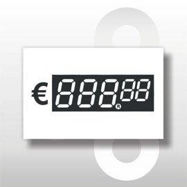 Digitale prijskaartjes tot € 1000 39 mm hoog 100 stuks