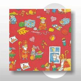 Sinterklaas papier 30 cm breed 200 mtr op rol