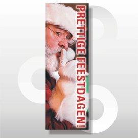 Raambiljet full Colour Prettige Feestdagen Kerstman