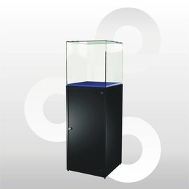 Stolpvitrine SV1 500 zwart met onderkast
