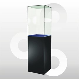 Sokkelvitrine SV1 500 zwart met hoge stolp