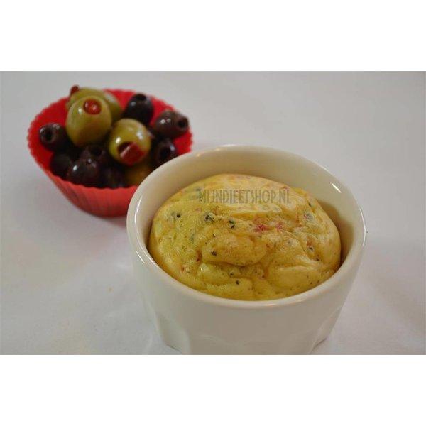 Eiwitrijke hartige olijven muffin, 7 porties