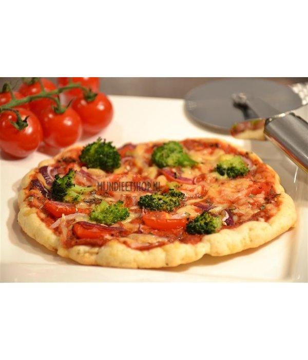 Pizzadeeg en topping