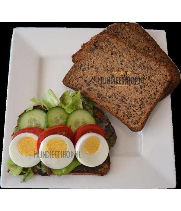 Proteinerijk brood met zaden, 10 sneetjes