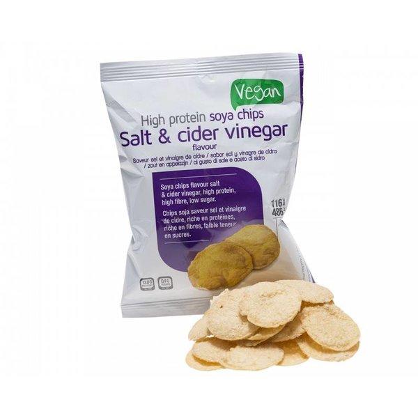 Proteine Soja Chips - Salt & Vinegar, 3 zakjes