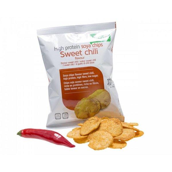 Proteine Soja Chips - Sweet Chili, 3 zakjes
