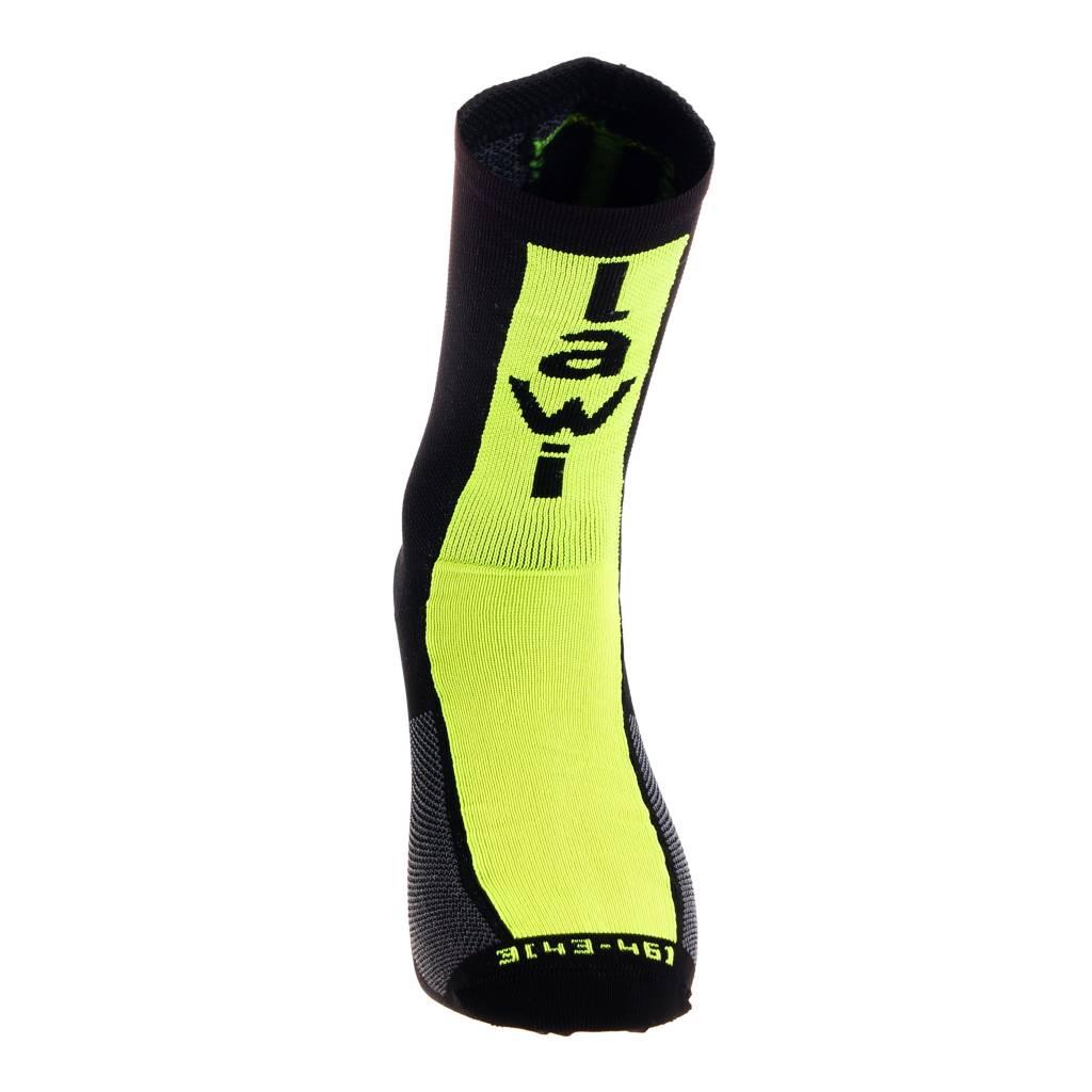 Socks long cabrera black/fluor yellow
