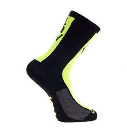 Socks long cabrera black/fluor yellow