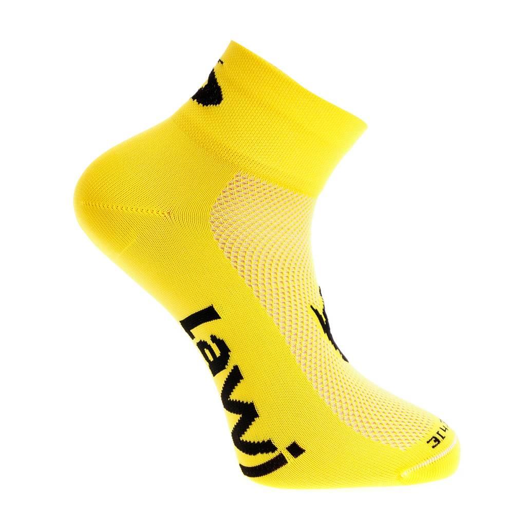 Bike socks short luxury yellow / black