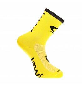 Bike socks long luxury yellow / black