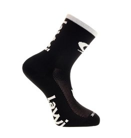 Bike socks long the luxury black / white